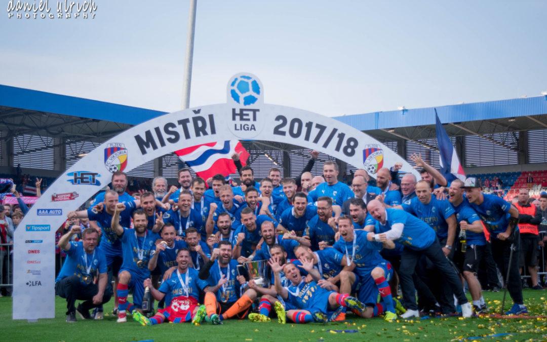 mistrovské oslavy FC Viktorie Plzeň na hřišti  (19.5.2018)